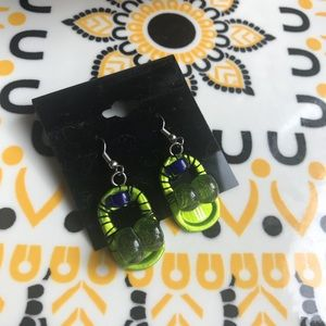 Glass beaded Recycled bottle top earrings